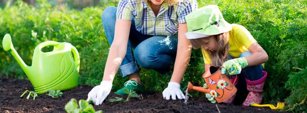 Trabajar la jardinería con los hijos fortalece la relación familiar